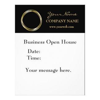 Simple Minimalist Gold Ring  Black Business LOGO Flyer Design