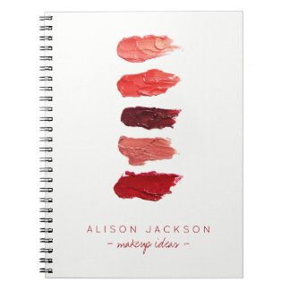 Simple minimalist lipstick colors swathes notebooks