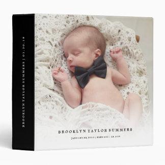Simple Minimalist Modern New Baby First Year Photo Binder