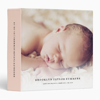 Simple Minimalist Modern New Baby First Year Photo Vinyl Binders