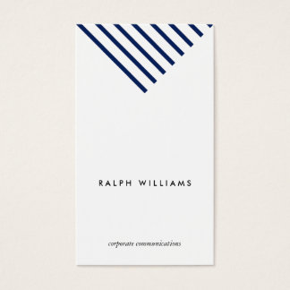 Simple Minimalist professional blue nautical lines Business Card