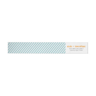 Simple Mint Green Pinstripes Wrap Around Label