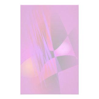 Simple Misty Abstract Balance Art Custom Stationery