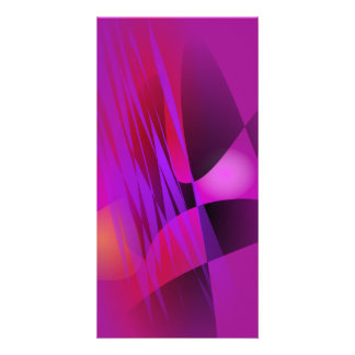 Simple Misty Abstract Balance Art Personalized Photo Card
