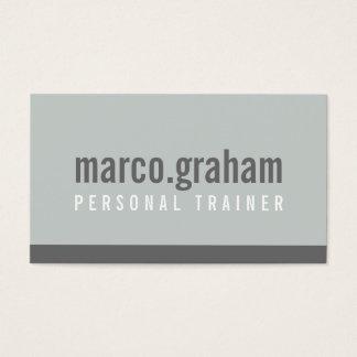 SIMPLE MODERN BAND minimalist masculine mono gray Business Card