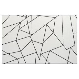 Simple Modern Black and White Geometric Pattern Fabric