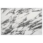 Simple Modern Black and White Marble Stone Fabric