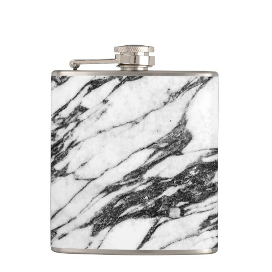 Simple Modern Black and White Marble Stone Flasks
