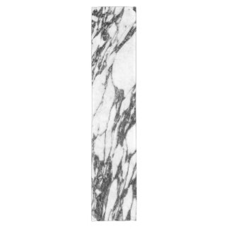 Simple Modern Black and White Marble Stone Short Table Runner