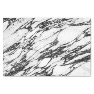 Simple Modern Black and White Marble Stone Tissue Paper