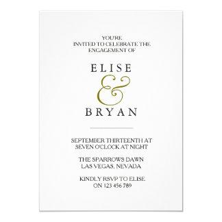 Simple Modern Elegant Engagement Party Invitation
