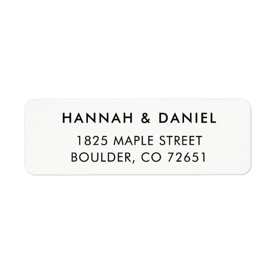 Simple Modern Elegant Wedding Return Address Label