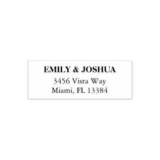 Simple Modern Elegant Wedding Return Address Stamp