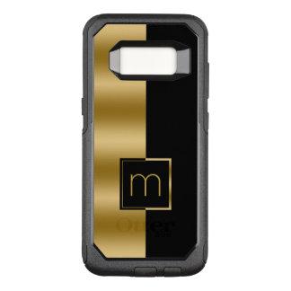 Simple Modern Gold & Black Geometric Design OtterBox Commuter Samsung Galaxy S8 Case