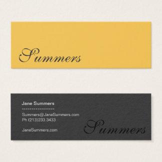 Simple Modern Gold Black Mini Business Card
