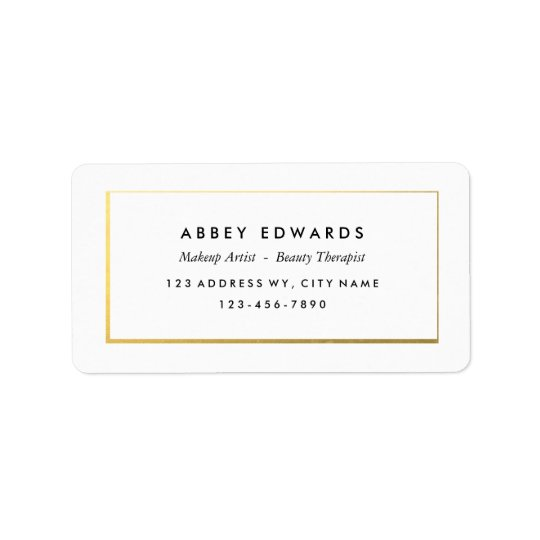 Simple Modern Gold Business Label Stickers