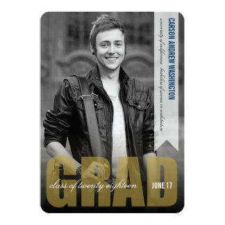 Simple Modern GRAD Overlay Graduation Announcement
