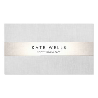 Simple Modern Grey and Faux Silver Stripe Business Card