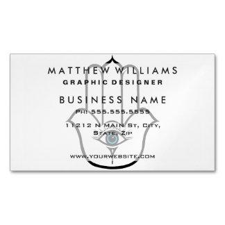 Simple Modern Hamsa Hand of Fatima Magnetic Business Card