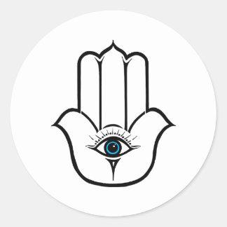 Simple Modern Hamsa Hand of Fatima Round Sticker