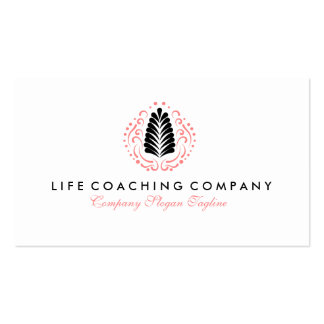 Simple Modern Life Coaching Logo Design Business Card