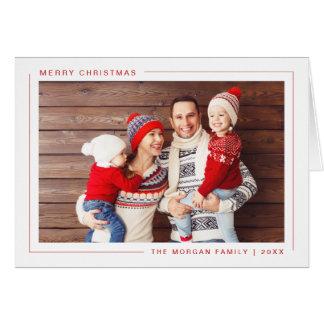 Simple Modern Merry Christmas Photo Card - Custom