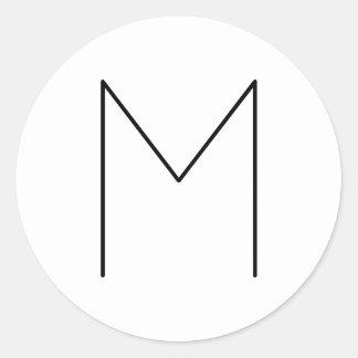 Simple Modern Minimalist Black and White Classic Round Sticker