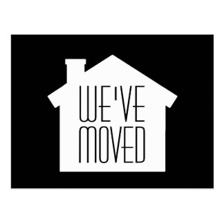 Simple Modern Minimalist New Address | We've Moved Postcard
