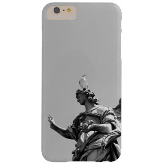 Simple, modern photo of seagull on top of statue barely there iPhone 6 plus case