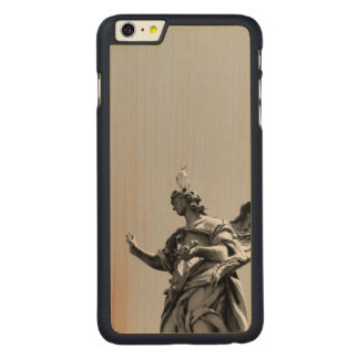 Simple, modern photo of seagull on top of statue carved® maple iPhone 6 plus case