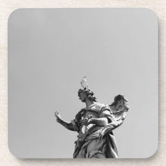 Simple, modern photo of seagull on top of statue coaster