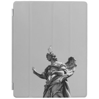 Simple, modern photo of seagull on top of statue iPad cover