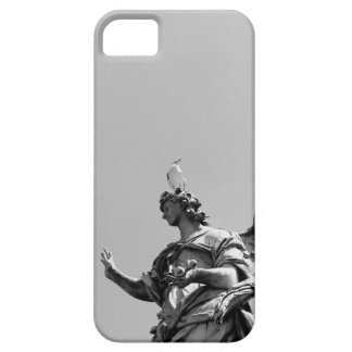 Simple, modern photo of seagull on top of statue iPhone 5 case