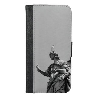 Simple, modern photo of seagull on top of statue iPhone 6/6s plus wallet case