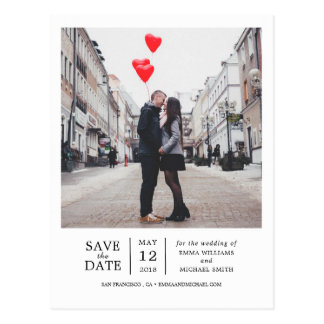 Simple & Modern Photo Save the Date Postcard