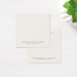 Simple Modern Professional Elegant Color Plain Square Business Card