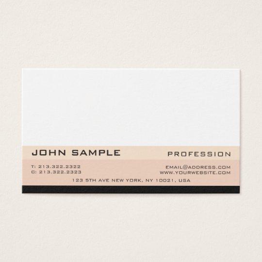 Simple Modern Professional Elegant Design Matte Business Card