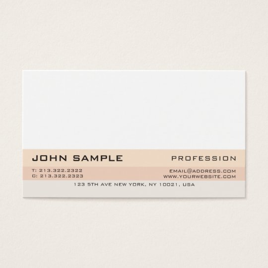 Simple Modern Professional Elegant Design UV Matte Business Card