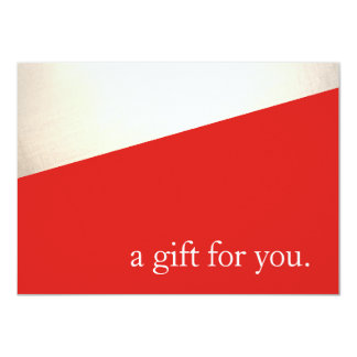 Simple Modern Red Gold Holiday Gift Certificate Card