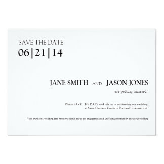 Simple & Modern Save the Date Invitation
