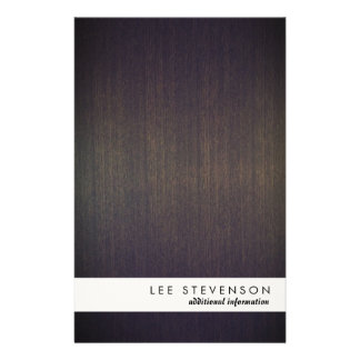 Simple Modern Stripe Wood Look Flyer
