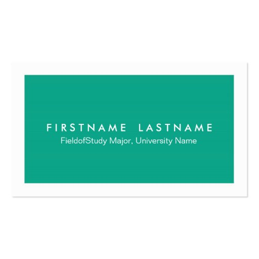 Simple Modern Student Business Cards