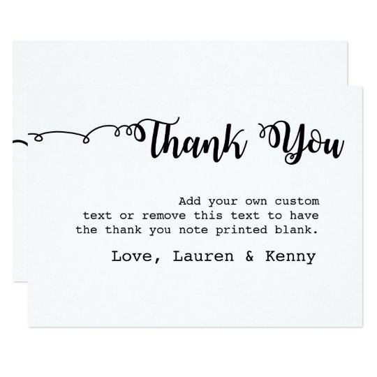 Simple, Modern Thank You Cards