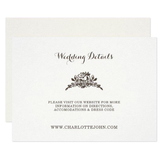 simple modern vintage wedding card