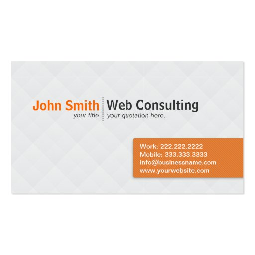 Simple Modern Web Consulting business card