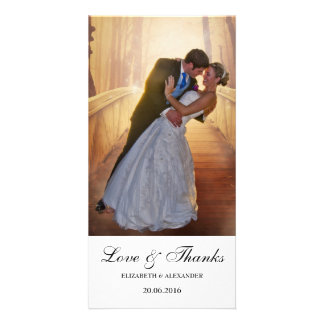 Simple Modern Wedding Thank You Photo Card