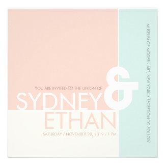 Simple Mondrian Minimalist Modern Wedding Invite