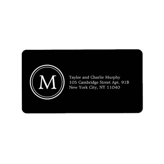 Simple Monogram Address Labels - Customizable Colo