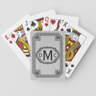 Simple Monogram (Black) Standard Playing Cards