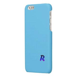 Simple Monogram Blue iPhone 6 Matte Finish Case